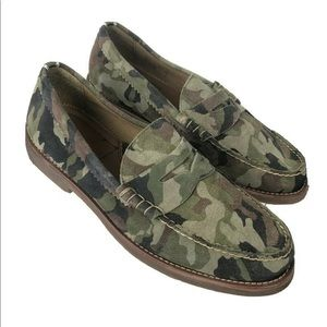 Aldo Avonport Camouflage Suede Penny Loafer